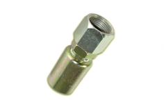 HOSE END FITTING- METRIC FEMALE SWIVEL, STRAIGHT